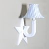Little House White Star Blue Stripe Wall Sconce