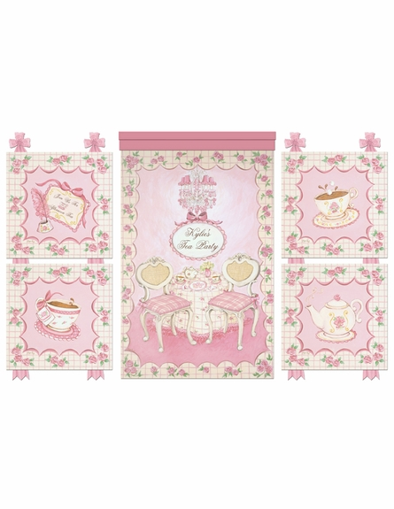 Little Lady Tea Party Wall Hanging