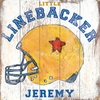 Little Linebacker Vintage Wood Sign