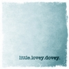 Little Lovey Dovey Canvas Wall Art - Blue