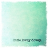 Little Lovey Dovey Canvas Wall Art - Green