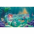 Little Mermaid Chair Rail Prepasted Wall Mural