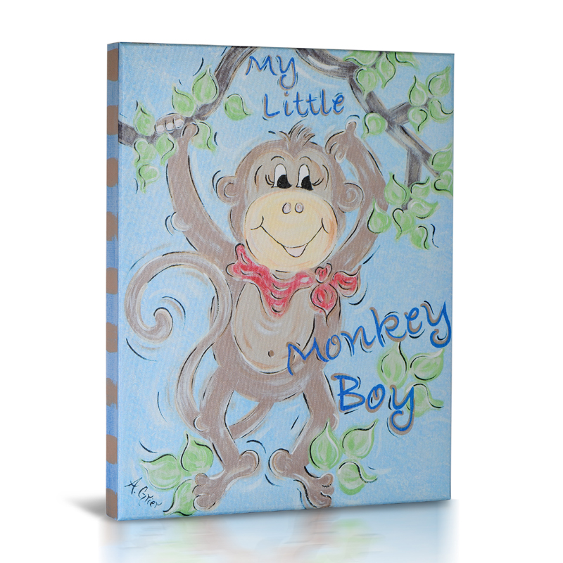 Rooms Kids Canvas Art View All Little Monkey Boy Canvas Wa