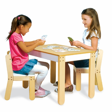 Little One's Table and Chairs - White