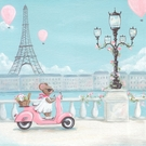 Little Pink Vespa Canvas Wall Art