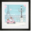 Little Pink Vespa Framed Art Print