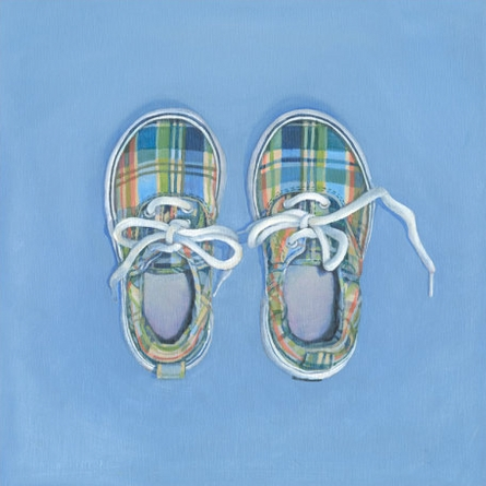 Little Plaid Shoes Canvas Wall Art