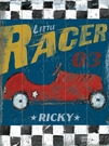 Little Racer Vintage Wood Sign
