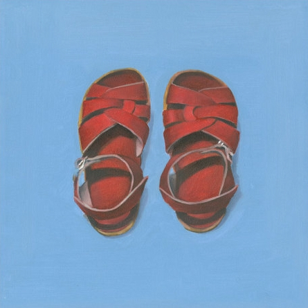Little Red Sandals Canvas Wall Art