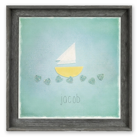 Little Sailboat Personalized Framed Canvas Wall Art