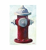 Little Squirt Red Hydrant Canvas Reproduction