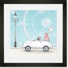 Little White Convertible Framed Art Print
