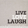 Live, Love, Laugh Canvas Wall Art