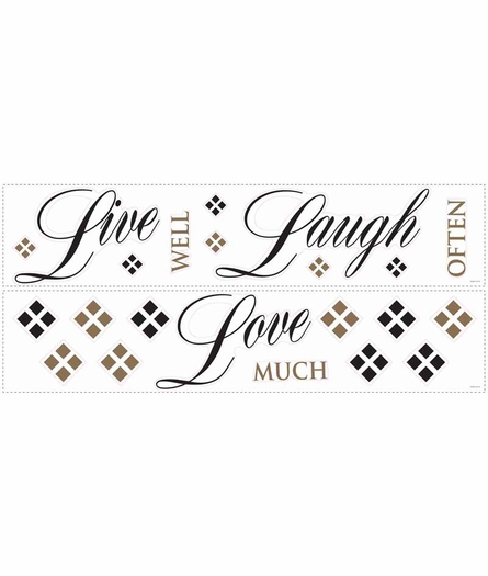 Live Love Laugh Peel & Stick Wall Decal