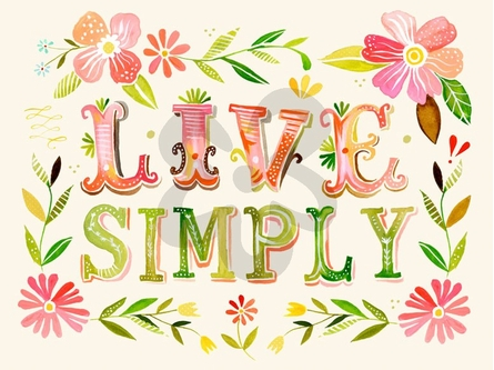 Live Simply Canvas Wall Art