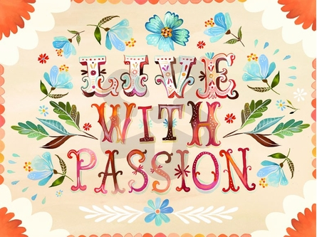 Live with Passion Canvas Wall Art