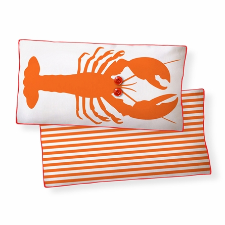 Lobster Reversible Throw Pillow