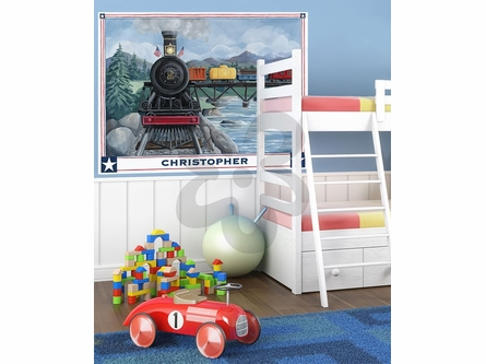 Locomotive Journey Mural Wall Decal