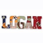 Logan My Little MVP Sports Hand Painted Wall Letters