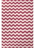 Lola Chevron Rug in Pink