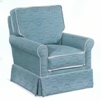 Lola Upholstered Swivel Glider Chair