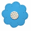 Lollipop Flower Bright Blue Drawer Pull