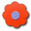 Lollipop Flower Bright Orange Drawer Pull