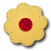 Lollipop Flower Bright Yellow Drawer Pull