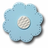 Lollipop Flower Pastel Blue Drawer Pull