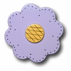Lollipop Flower Pastel Purple Drawer Pull