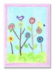 Lollipop Flowers and Birds Wall Plaque