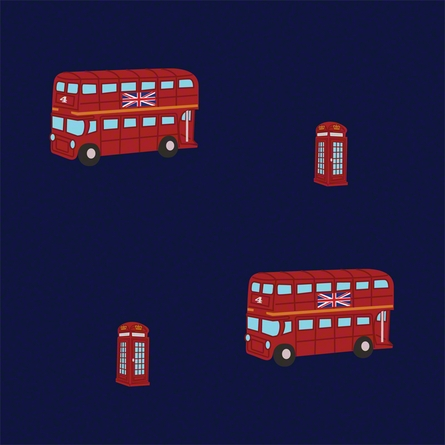 London Bus Removable Wallpaper