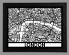 London Framed City Map