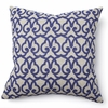 London Print in Blue Throw Pillow