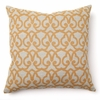 London Print in Gold Throw Pillow