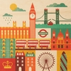 London Square Jumbo Wood Panel Art Print