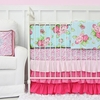 Londyn Pink Ruffle Crib Bedding Set