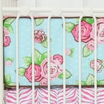 Londyn Rose Dot Crib Bumper
