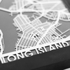 Long Island Stainless Steel Framed Map