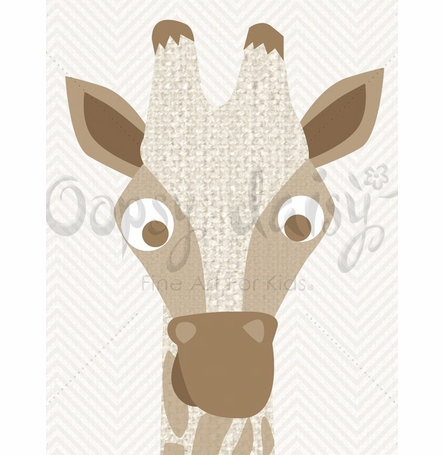 Long Neck Living Canvas Wall Art