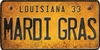 Louisiana Custom License Plate Art