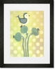 Love Bird - Green Framed Art Print