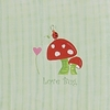 Love Bug Mushroom Canvas Reproduction
