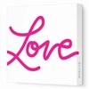 Love Script Canvas Wall Art