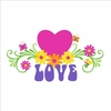 Love & Flowers Small Paint by Number Wall Mural