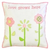 Love Grows Embroidered Throw Pillow