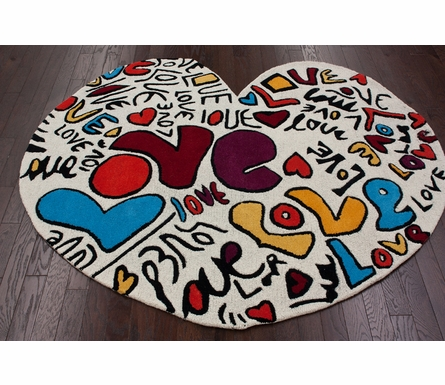 Love Heart Shaped Rug
