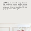 Love in Charcoal Wall Decal