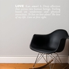 Love in White Wall Decal