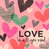 Love Is All You Need Hearts Canvas Wall Art